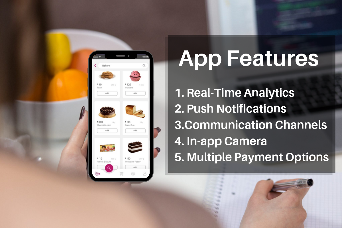 Grocery store app features