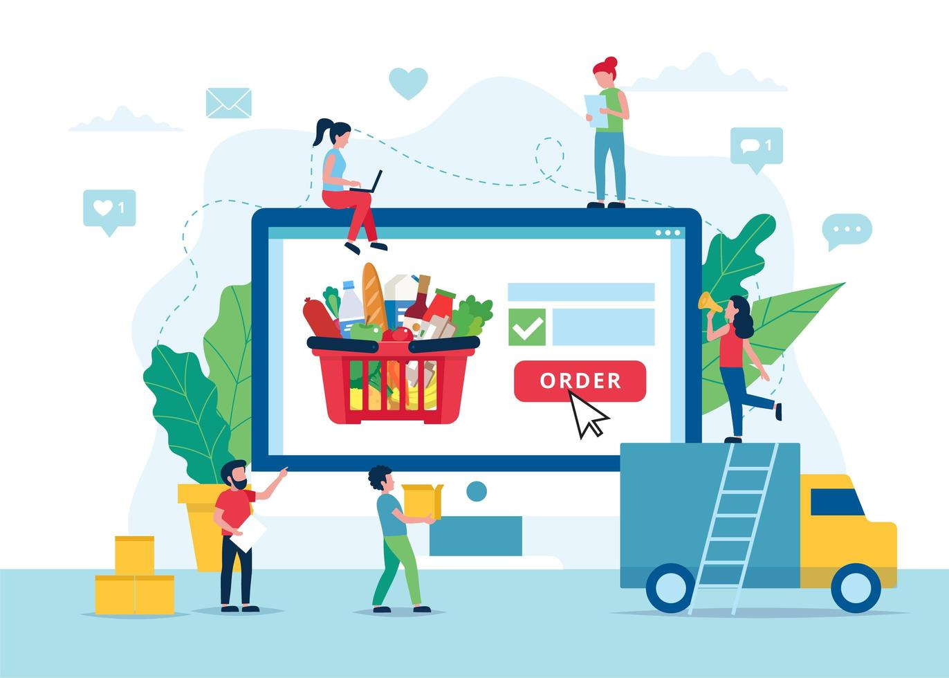 online-grocery-delivery-concept-vector